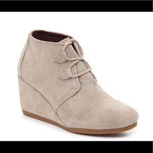 Toms Desert Tan Kala Wedge Ankle Boots
